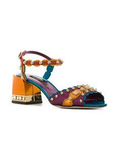 Shop Dolce & Gabbana Keira sandals Dream Shoes, Crazy Shoes, Me Too Shoes, Pretty Shoes, Beautiful Shoes, Dolce & Gabbana, Stylish Sandals, Ankle Strap Flats, Designer Sandals