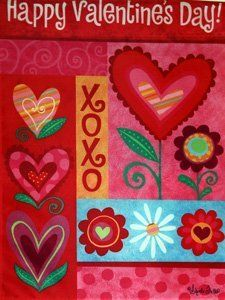 Hearts Bloom Valentines Day Garden Flag by Evergreen. Save 40 Off!. $5.99. Durable yet breeze-friendly. Specially treated fabric to preseve the life and colors of the flag!. Text correctly readable on one side of flag only. Decorative flags are a great home and garden decoration for every season and reason! The unique production process that goes into our flags is your guarantee that your flag will retain shape, fabric durability and vivid color through any weather condition & fo...