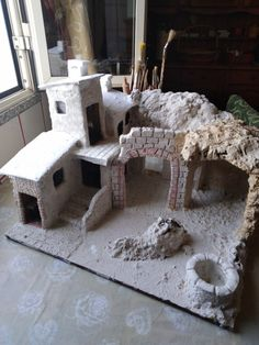 Christmas Nativity Scene, Christmas Villages, Christmas Deco, Wargaming Terrain, Book Nooks, Shadow Box, Cribs, Diy And Crafts, Arts And Crafts