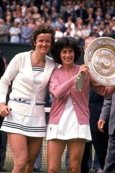 Betty Stove and Virginia Wade 1977 Wimbledon final
