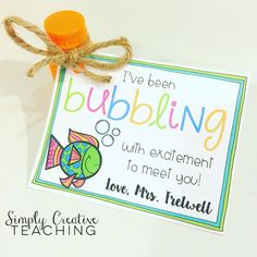 Clever back to school gift for kids! I've been bubbling to meet ...