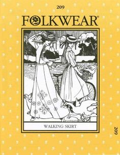 Folkwear Victorian Walking Skirt Pattern