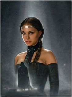 Awesome Padmé fan art by Jerry Vanderstelt. Love that little Darth Vader.