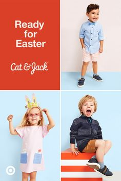 Easter's around the corner! Get your bunnies ready with our assortment of adorable toddler clothes from Cat & Jack.