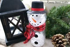 how to make a mason jar snowman, christmas decorations, crafts, mason jars, repurposing upcycling, seasonal holiday decor
