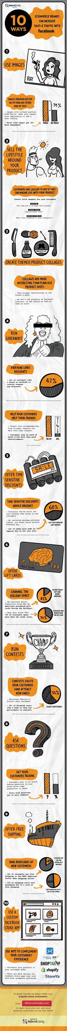 10 modi per aumentare traffico e vendite usando Facebook
