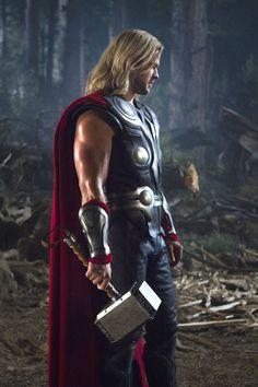 Thor Avengers Movie Holding Hammer Gallery Print