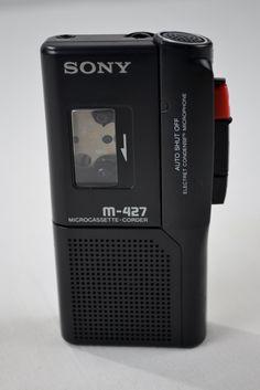 Sony M-427 Pressman Micro Cassette Recorder Voice Recorder