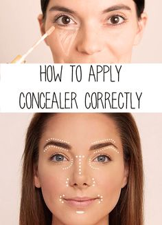 Concealer can help you to conceal all the dark spots, large pore, acne, and blemishes. Here is step by step tutorial on how to apply concealer like a pro. Concealer Tips, How To Apply Concealer, How To Apply Makeup, Concealer Palette, Concealer Brush, Beauty Kit, Beauty Care, Beauty Hacks, Diy Beauty