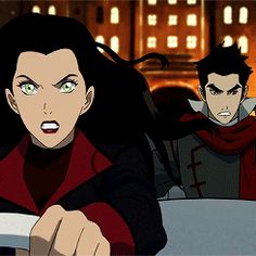 Asami - She looks like she's been drawn a bit differently than Book 1. Her eyes look more anime-ish.
