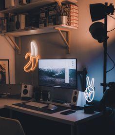 game room design Gaming gamingdesk gamingsetup RGB Room game room design Gaming gamingdesk gamingsetup RGB Room 21 Truly Awesome Video Game Room Ideas - U me and the awesome video games room coole Teen Desk, Boys Desk, Computer Desk Setup, Gaming Room Setup, Computer Desk Organization, Workspace Desk, Pc Setup, Computer Room Decor, Gaming Desk Diy
