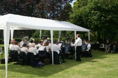 The Burtle Silver Band perform at Cossington while we enjoy a strawberry cream tea!