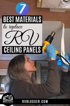 Renovating an RV can be intimidating, especially the ceiling! This list will help you choose the best materials to replace your RV ceiling. Whether you are remodeling or repairing your ceiling because of RV rook leaks, this is a great source for RV tips! #rvblogger #rvrenovation #rvremodel #rvceiling #rvtips #usedrv #updatinganrv #rvrenovationtips Fabric Ceiling, Ceiling Panels, Rv Interior Remodel, Ceiling Materials, Rv Mods, Pvc Panels, Diy Projects Cans, Used Rv, Diy Rv