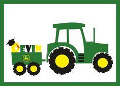 John Deere Tractor Illustration