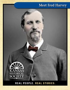 Fred Harvey, who created chain of Harvey House restaurants known for good food in a sophisticated setting Real People, Famous People, Harvey House, Harvey Girls, Historical Society, Wild West, Santa Fe, Family History, Genealogy