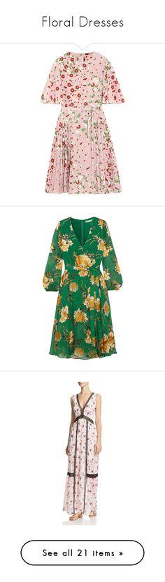 """Floral Dresses"" by li-lac7 ❤ liked on Polyvore featuring dresses, haljine, vestidos, pink, floral print dress, tie waist dress, colorful dresses, pocket dress, floral dresses and bohemian cocktail dress"