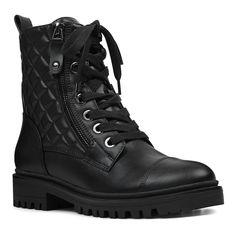 Nine West Walan Women's Combat Boots Nine West Walan Damen-Kampfstiefel Combat Boot Outfits, Black Combat Boots, Ankle Boots, Ugg Boots, Shoe Boots, Shoes Heels, Nine West, Army Shoes, Block Heel Shoes