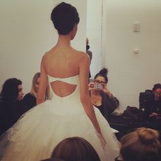 And then we saw the back and all jaws hit the floor. @verawanggang #bridalmarket