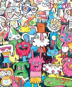 Unique Gifts & Unusual Present Ideas Graffiti Doodles, Graffiti Art, Cool Patterns, Print Patterns, Unusual Presents, Creative Textiles, Cute Monsters, Colorful Wallpaper, Art For Kids