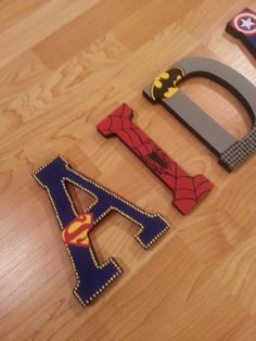 "7"" Superhero inspired wall letters"