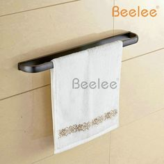 (29.25$)  Know more - http://aimp4.worlditems.win/all/product.php?id=32546840537 - Beelee BL7701B Fashion Copper Black Towel Rack Single Pole Towel Rack Bathroom Towel Hanging Bathroom Accessories