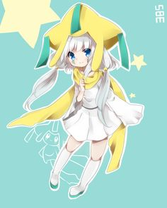 Jirachi, my favorite pokemon ever and it is now an anime girl! :)