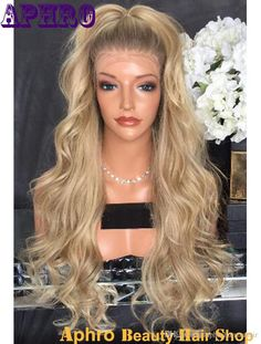 Wholesale Dark Roots Ombre Blonde Silk Top Full Lace Wigs with Combs 150% Density Brazilian Virgin Hair Blonde Silk Base Lace Front Wigs
