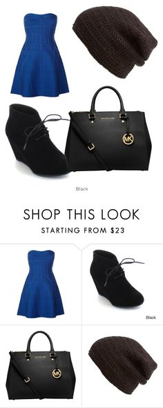 """Heyyy"" by kennedy-bernard ❤ liked on Polyvore featuring Hervé Léger, ANNA, MICHAEL Michael Kors and King & Fifth Supply Co."