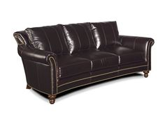 The Richardson Stationary Sofa 8-Way Tie is offered in hundreds of leather options and includes a standard nailhead trim #9 in natural finish.