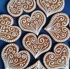 29 Ideas For Cookies Wedding Heart Bridal Shower Fancy Cookies, Iced Cookies, Cute Cookies, Holiday Cookies, Heart Cookies, Christmas Gingerbread House, Noel Christmas, Christmas Candy, Christmas Treats
