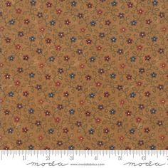 1 Yard Fabric Vine Tan Brown Spice Pallette