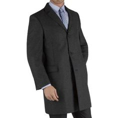 $124, Grey Herringbone Single Breasted Overcoat Xxl Grey by Racing Green. Sold by Suit Direct. Click for more info: http://lookastic.com/men/shop_items/153500/redirect