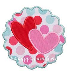 Heart Patch 2 Applique Design