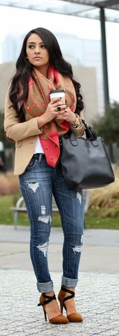 Heels jeans outfits