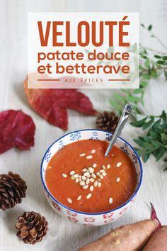 Velouté de patate douce et betterave aux épices – Mango & Salt