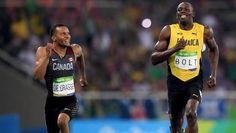 Usain Bolt and Andrea De Grasse