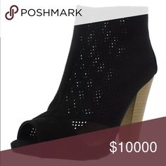 New sizes!❤MOST WANTED❤Suede Perforated Booties!🆕 New in box!! Vegan suede! Peep toe perforated booties! Super cute! Heel is 4 inches tall. Qupid Shoes Ankle Boots & Booties