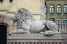 Stock image of Lion Statue