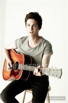 Logan Lerman playing guitar... Does it get better?