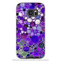 Purple Abstract Galaxy S7 EDGE Case - Grape Bubbles - Artistic Samsung Galaxy S 7 Tough Case