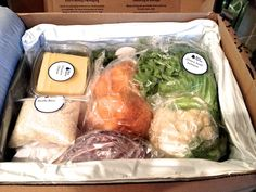 Blue Apron food deliver- 3 recipes a week plus all the ingredients for them shipped to you!