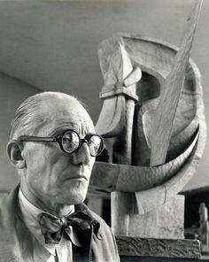 Le Corbusier in 1948. // Willy Maywald
