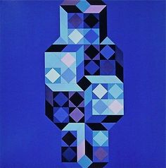 VICTOR VASARELY (1908-1997) Internationally recognized as one of the most important artists of the 20th century. He is the acknowledged leader of the Op Art movement, and his innovations in color and