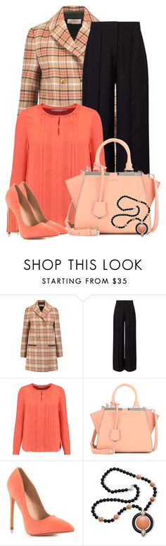 """""""Untitled #6157"""" by cassandra-cafone-wright ❤ liked on Polyvore featuring Tory Burch, Miss Selfridge, Diane Von Furstenberg, Fendi, Liliana and Kenneth Jay Lane"""
