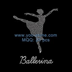 Hot Popular Ballerina Iron On Rhinestone Transfer Wholesale
