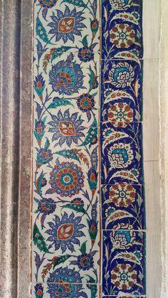 Arabesque Pattern, Art Tiles, Ceramic Figures, Floral Patterns, Ottomans, Islamic Art, Woven Rug, Watercolor Paintings, Ethnic