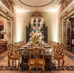Sala de jantar magnífica!  #Living #CustomHomes #SalaDeJantar #Decor #homedecor #luxurylife #homes #house #jantar #sala #livingroom #decoration #word #design #designdecor