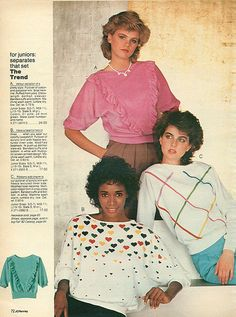 I had a shirt with the rainbow hearts on it. Christmas Catalogs, Christmas Books, Ad Fashion, Vintage Fashion, 80s Ads, 80s Trends, Vintage Dresses, Style Inspiration, 1970s