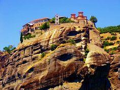 Meteora, Montaña, Paisaje, Monasterio