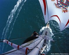 The bold identity and livery design of Drum designed by Malcolm Garrett and Baker Dave at Assorted Images produced some striking pictures during the Round The World Yacht Race. Simon Le Bon, Amazing Songs, Dinghy, Great Bands, Drums, Image Search, Sailing, Fair Grounds, Boat